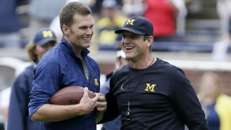 Tom Brady Played Catch With Jim Harbaugh And There's Nothing The NFL Can Do About It