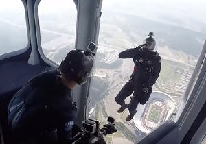 Check Out The First Skydive From A Goodyear Blimp In Over Half A Century