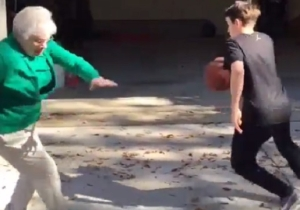 This Young Baller Broke A Sweet Old Grandma's Ankles