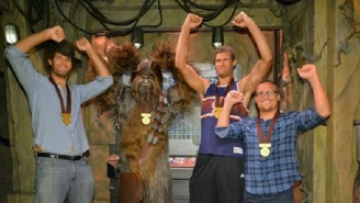 The NBA's Lopez Brothers Finally Gave Chewbacca A Medal As 'Star Wars' Completists Rejoice