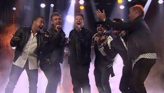 Watch James Corden Nail Vintage Backstreet Boys Choreography Alongside The Boys Themselves