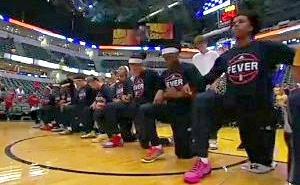 The Entire Indiana Fever WNBA Team Knelt In Solidarity During The National Anthem