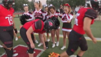 A High School Football Team Honored A Cheerleader Suffering From Leukemia With A Beautiful Tribute
