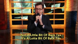 Stephen Colbert Tries To Help Nelly With His IRS Debt Using The Power Of Song