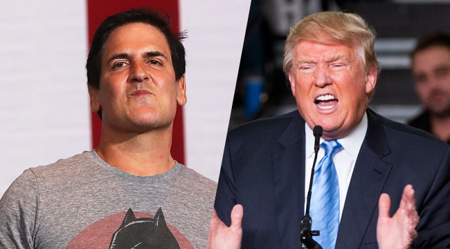 Mark Cuban Will Be Trump's Grim Spectre Of Doom From The Front Row Of Next Week's Debate