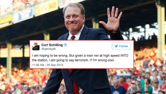 Curt Schilling Made A Very Bad Tweet About The Hoboken Train Crash And The Internet Let Him Have It