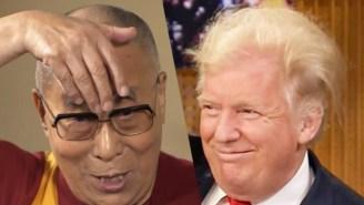 The Dalai Lama Shows Off His Spot-On Impression Of Donald Trump
