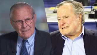 Donald Rumsfeld, 84, Blames George H.W. Bush's Clinton Vote On Age: 'He's Up In Years'