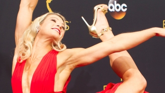 'Supergirl' stuntwoman Jessie Graff kicked her way down the Emmys red carpet