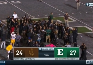 Eastern Michigan Students Protested On-Campus Racist Graffiti Following The Team's Win Over Wyoming