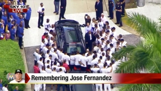 Marlins Players Surrounded Jose Fernandez's Hearse During His Memorial Service