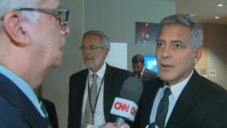 George Clooney Heard About The Brangelina Split Mid-Interview And Was Just As Sad As The Rest Of Us