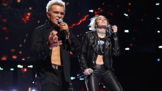 Miley Cyrus Popped By The iHeartRadio Festival For A Surprise 'Rebel Yell' Duet With Billy Idol