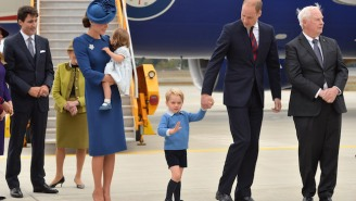 Prince George Reminds The Canadian Prime Minister That He's Just A Commoner By Ignoring His High Five