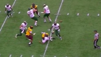 A Minnesota Player Hit Colorado State's Quarterback So Hard His Helmet Popped Off