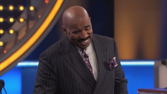 Steve Harvey Met His 'Twin' On 'Family Feud' And It Was Amazing