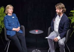 Hillary Clinton's 'Between Two Ferns' Appearance Was '90% Improvised'