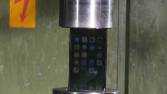 Some Lovely Folks Have Crushed An iPhone 7 With A Hydraulic Press So You Don't Have To