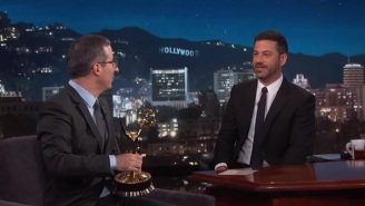 Jimmy Kimmel Has Some Very Clear Reasons To Doubt John Oliver's Emmy Respect