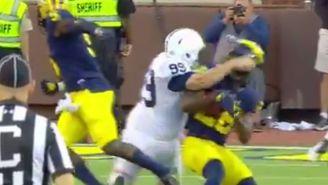 Penn State's 258-Pound Kicker Absolutely Demolished This Michigan Returner