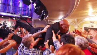 Civil Rights Legend John Lewis Turned Into A 'Gnarly' Crowd Surfer On 'The Late Show'