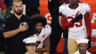 Eric Reid Joined Teammate Colin Kaepernick In Protest During The National Anthem