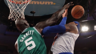 An Inspired Mix Of Kevin Garnett's Trademark Blocked Shots After The Whistle