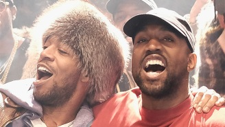 Kanye Urged The Crowd At His First L.A. 'Pablo' Show To Sing Their Support Of Kid Cudi