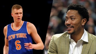 Kristaps Porzingis Says New Knicks Teammate And Former MVP Derrick Rose Has 'Still Got It'