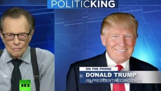 Larry King Contradicts The Trump Campaign And Doesn't Believe Trump Thought He Was Doing A Podcast