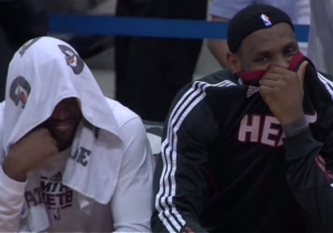 Remembering The Time The Hawks Put Dwyane Wade And LeBron On The Kiss Cam