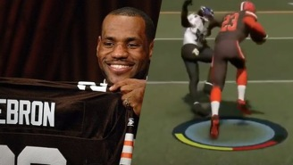 LeBron Dominating As The Browns QB In 'Madden' Will Make You Wish He Was A Two-Sport Star