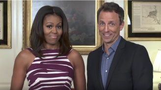 Michelle Obama And Seth Meyers Team Up To Give Advice To College Freshman
