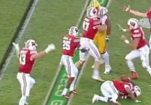 An LSU Lineman Responded To A Wisconsin Interception With An Unforgivable Cheap Shot