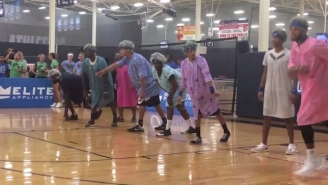 The Mavs Dressed As Goofy Geriatrics For Deron Williams' Charity Dodgeball Event
