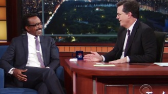 Stephen Colbert Remembers When Tim Meadows Called Him A 'Motherf***er' For Throwing Hot Dogs At People