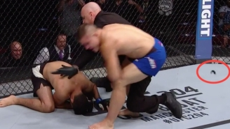 An Impressive Berserker Rush Led To A Mouthpiece Flying Across The UFC Octagon