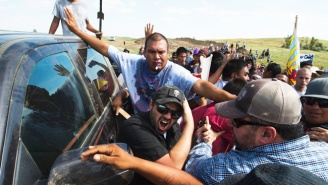 A Native American Pipeline Protest Turns Violent In North Dakota With Pepper Spray And Reported Dog Attacks
