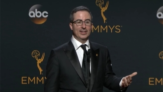 John Oliver Seems To Have A Ball Playfully Sparring With Reporters After His Emmy Win