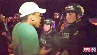 Watch The Raw Moment A Charlotte Protester Confronts Police After An Officer-Involved Shooting