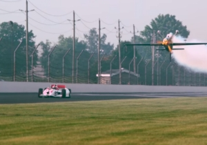 A Plane Raced A Dang Indy Car On The Indianapolis 500 Track And It Was As Awesome As It Sounds