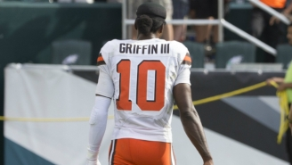 New Browns QB Robert Griffin III Made It Exactly One Game Before Being Put On Injured Reserve