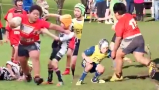 Enjoy This Giant 9-Year-Old Rugby Player Humiliating Normal-Sized Children