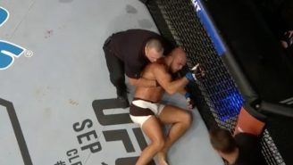 This Knee To The Forehead Just Sent A UFC Fighter Flying With Video Game Ragdoll Physics