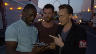 Idris Elba And Chris Hemsworth Crashed Tom Hiddleston's TV Choice Awards Acceptance Speech