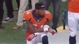 Denver Linebacker Brandon Marshall Is The Latest Athlete To Kneel For The National Anthem