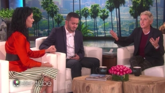 Katy Perry Surprised An Orlando Shooting Survivor On 'Ellen' And Offered To Pay His Tuition