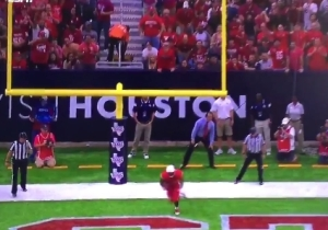 Houston Pulled Off An Incredible 'Kick-Six' Against Oklahoma And It Almost Didn't Happen