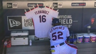 Players And Teams Across The League Honored Jose Fernandez During Sunday's Games