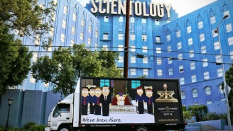 Think the Church of Scientology appreciates this 'South Park' mobile billboard?
